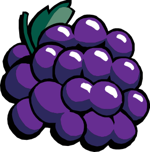 Grape clipart cute Vector Clip Grapes Grapes art