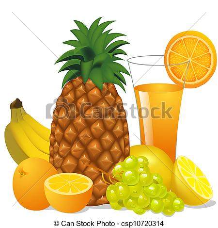 Grape clipart friut Pineapple Clip banana pineapple of