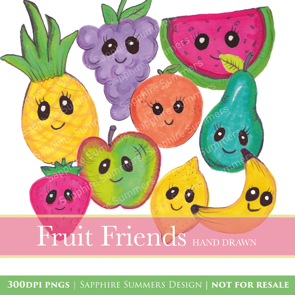 Grape clipart friut Cartoon file Fruit clipart This