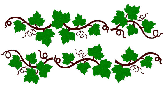 Grape clipart grape leaf And and Leaves embroidery 4x4