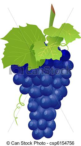 Grape clipart graphic White Vector Clip Grape