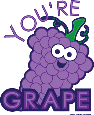 Grape clipart happy Click Image to Clipart Fruit