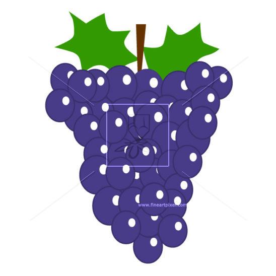 Grape clipart mga #5