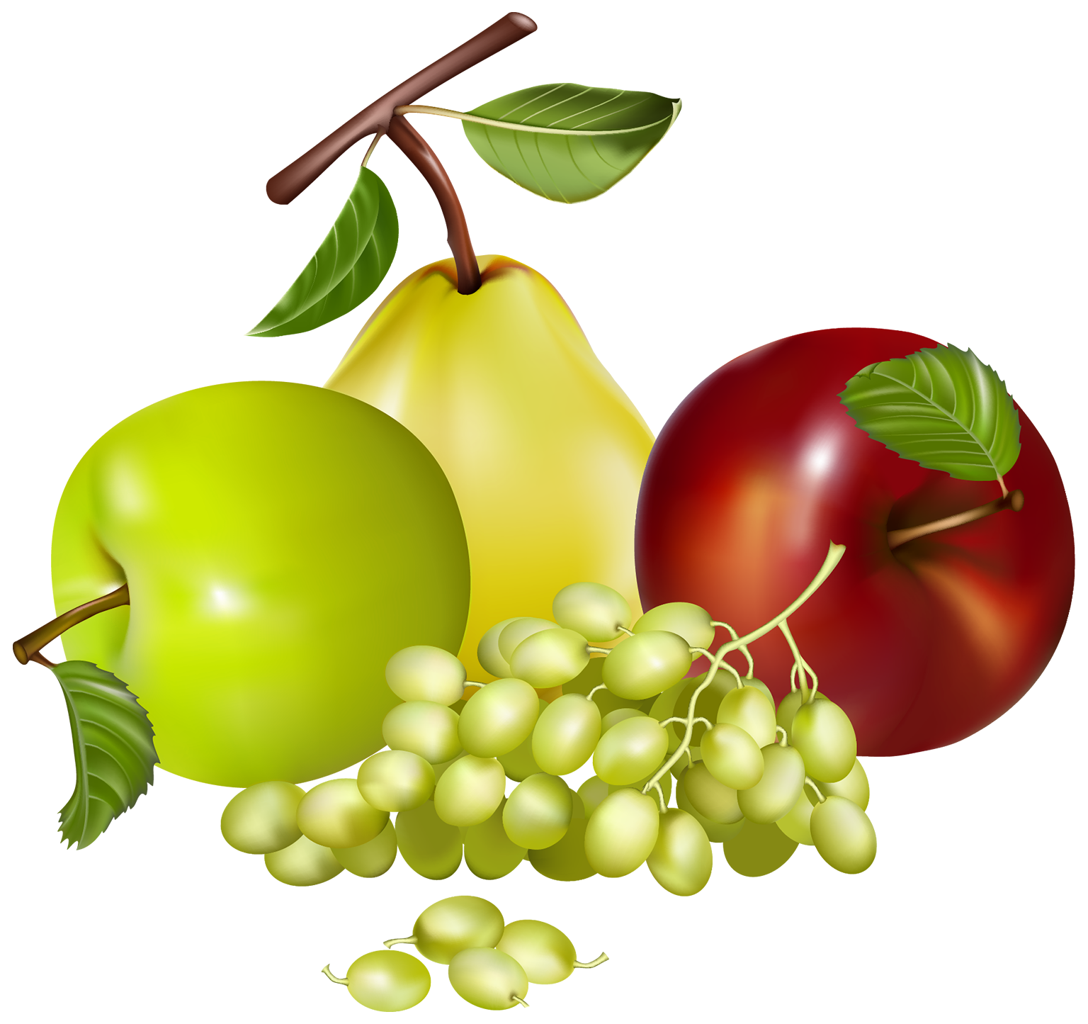 Grape clipart mix fruit #6