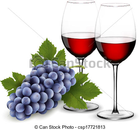 Grape clipart two With grapes grapes wine Two