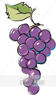 Grape clipart violet De de on libres Tas