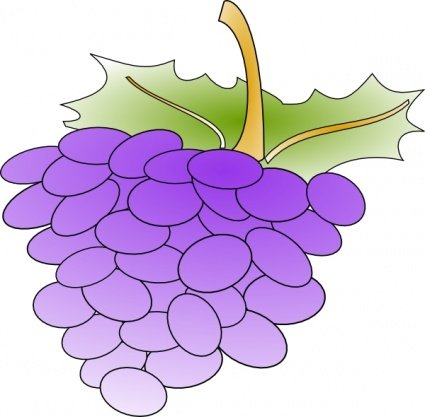 Grape clipart violet Me Grapes Art Grapes Clip
