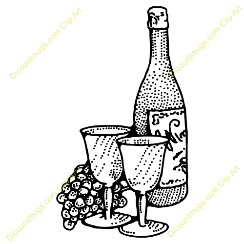 Wine clipart line Bottle Clipart Panda And Wine