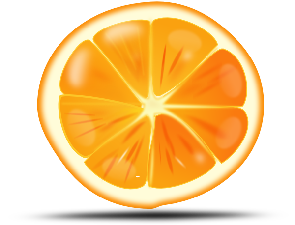 Grapefruit clipart orange wedge Org Orange clip Fruit Orange