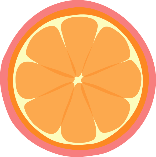 Grapefruit clipart orange wedge Com Clker Orange Clip clip