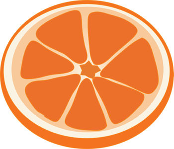 Grapefruit clipart orange wedge  Free Black White And