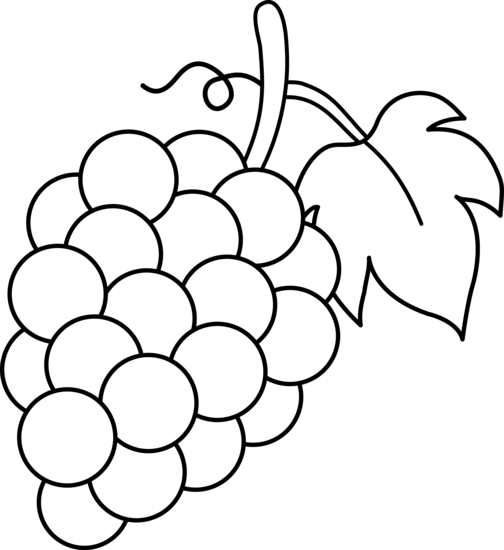 Grape clipart black and white Clipart Free Images Clipart grapes