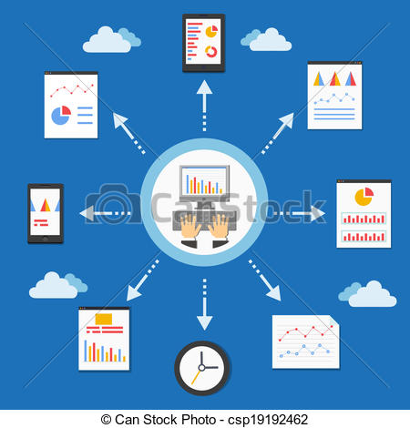 Graph clipart analytics Style of vector Art in