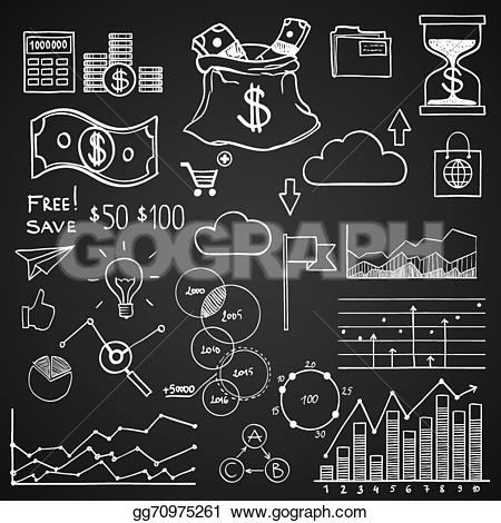 Graph clipart analytics And concept Hand coin draw