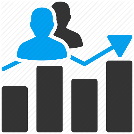 Graph clipart analytics Visits seo icon people chart