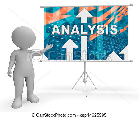 Graph clipart analytics Csp44625385 Showing Stock Analysis 3d