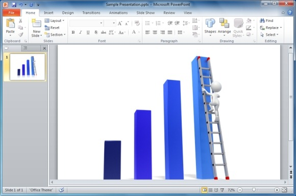 Graph clipart animated Presentations PowerPoint Graph Bar Climb