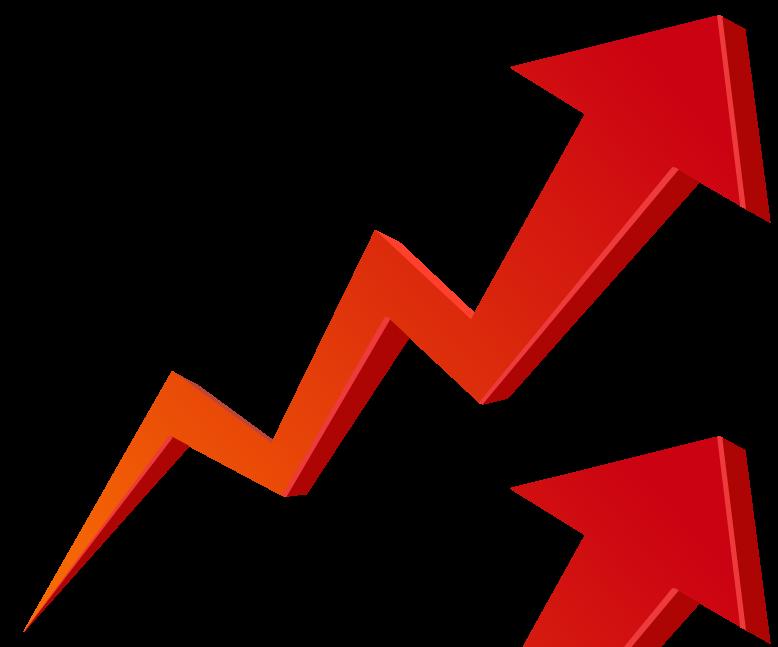 Arrow clipart growth #1
