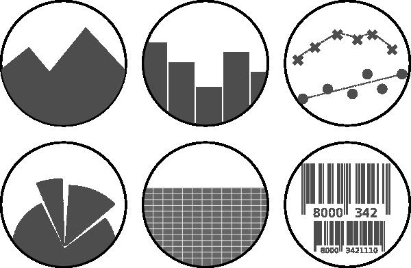 Graph clipart black and white Art as: Graph vector art