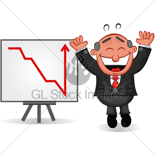 Graph clipart boss Stock Jumping Boss Business Chart