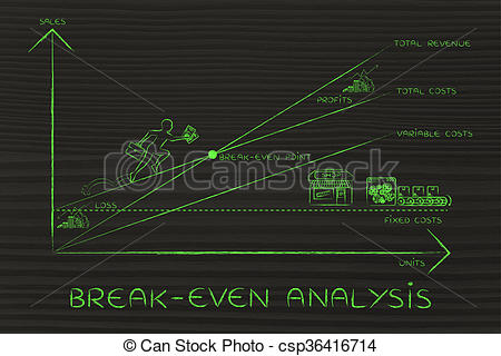 Graph clipart break even analysis Clipart climbing break results even