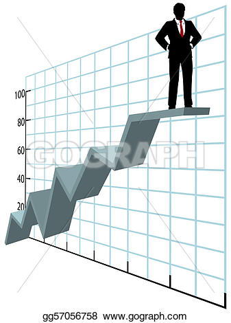 Graph clipart business growth Gg57056758 investor on growth chart