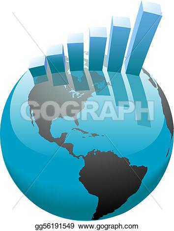 Graph clipart business growth Business worldwide graph business Art