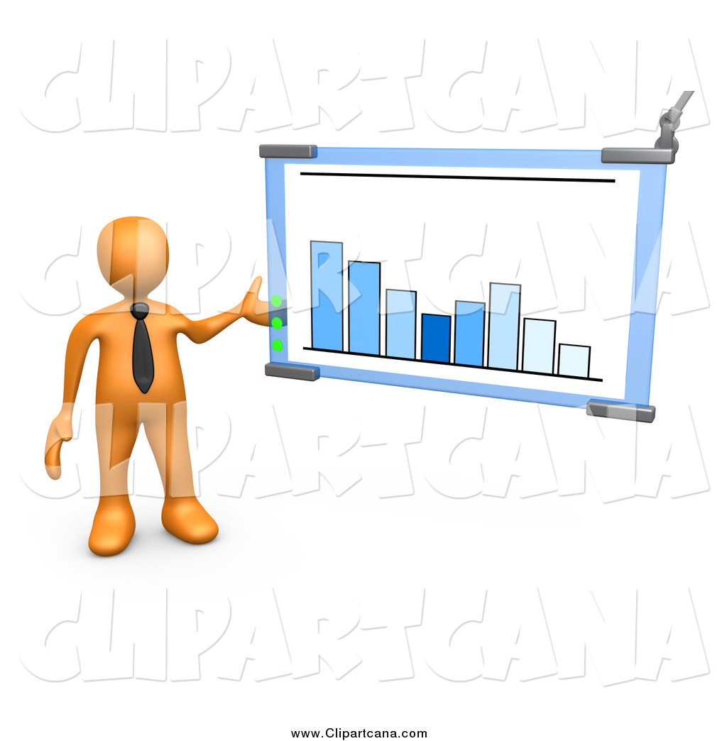 Graph clipart business owner A Chart  Discussing 3d