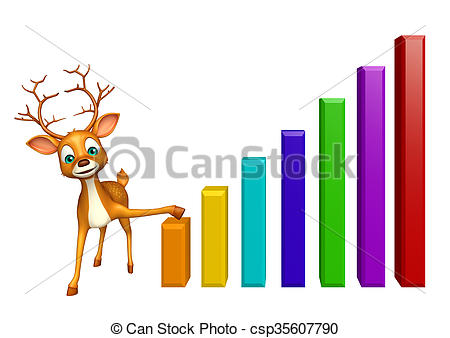 Graph clipart cute  cute graph Deer character