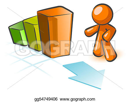 Graph clipart boss Drawing in Orange man bar