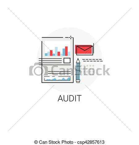 Graph clipart data analysis Financial Audit Audit Data Vector