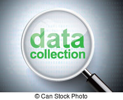 Graph clipart data gathering Collection with Data words Vector