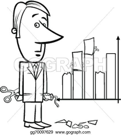 Graph clipart data handling Clipart Illustration Stock data or