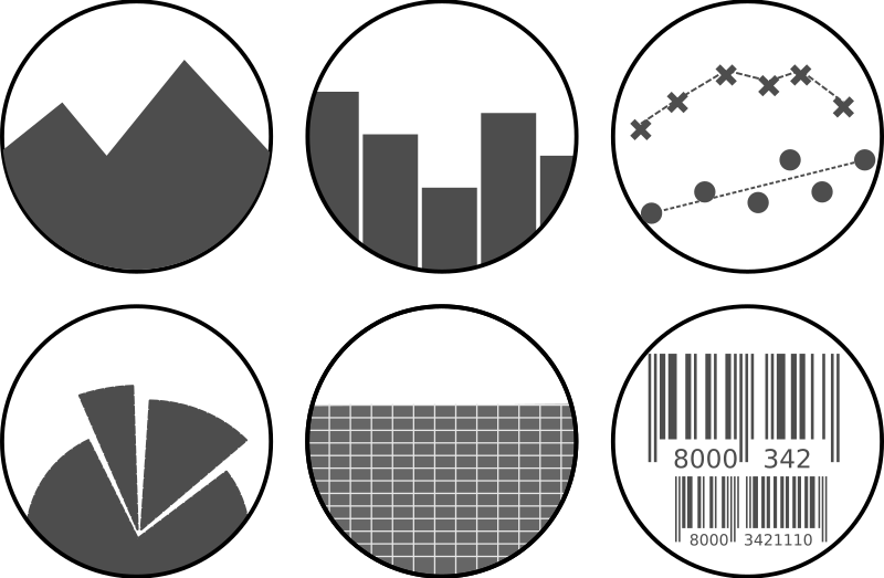 Graph clipart data table MEDIUM Set (PNG) Graph Icon