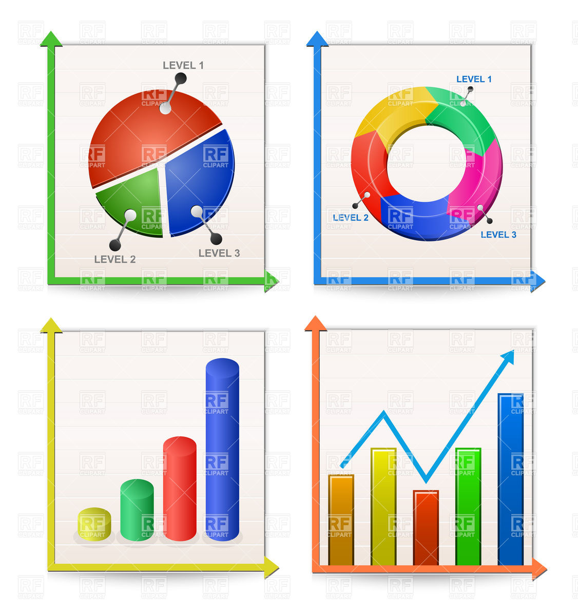 Charts cliparts Clipart Graphs Graphs