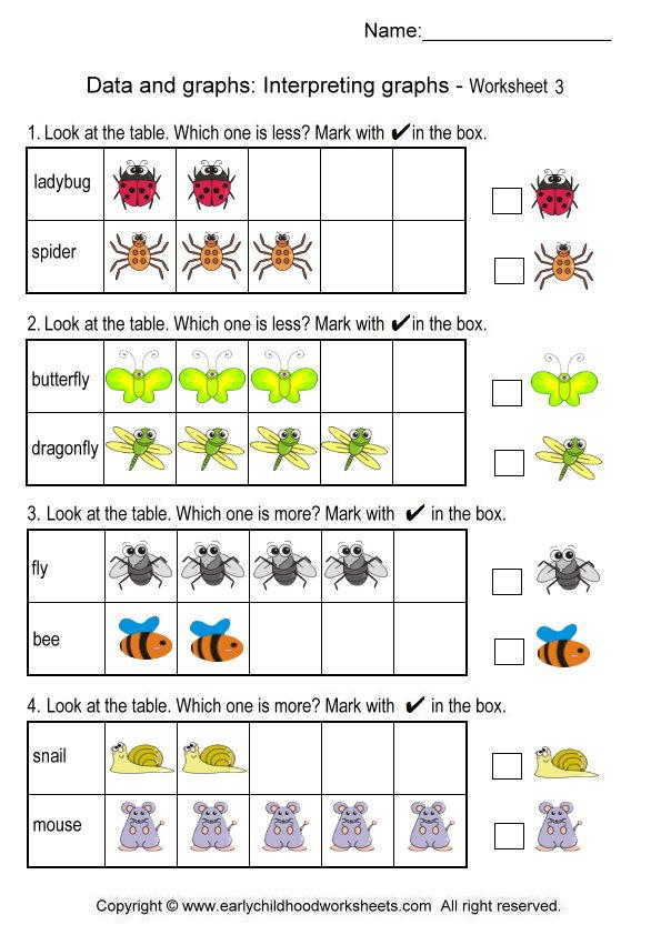 Graph clipart data table  Worksheets 3 Graphs #