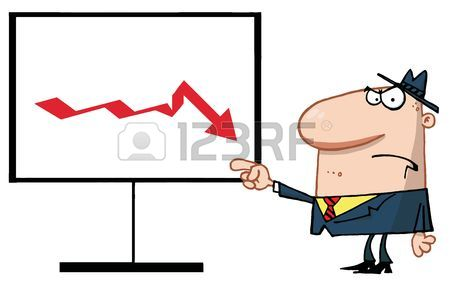 Graph clipart decline To Decline clipart Boss Royalty