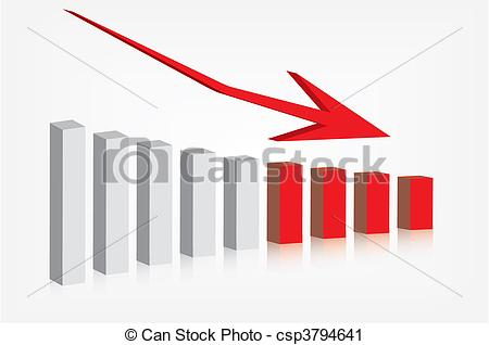 Graph clipart decline Csp3794641 earnings Clip profits showing