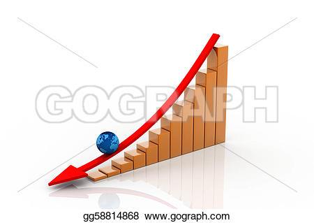 Graph clipart decrease Graph showing profits gg58814868 Illustrations