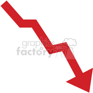 Graph clipart down Clip red going image down