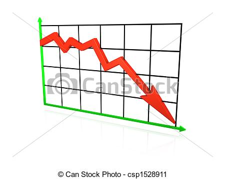 Graph clipart down Line Stock going An down
