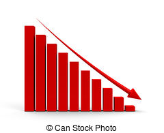Graph clipart downward Business with arrow down Business