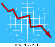 Graph clipart downward Of going An down graph