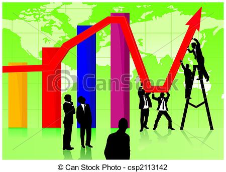 Graph clipart economy Economic business on working working