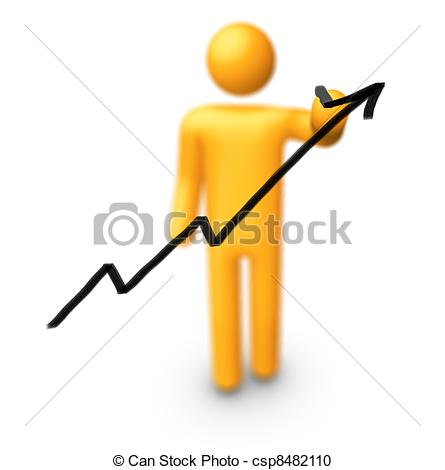 Graph clipart figure Illustration Drawing Stick csp8482110 Graph