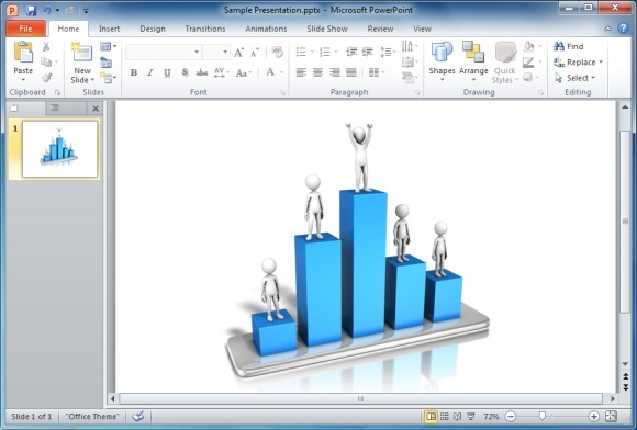 Graph clipart figure 3D On Charts Graph Presentations