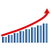 Graph clipart growth chart Royalty Growth chart Free Clip