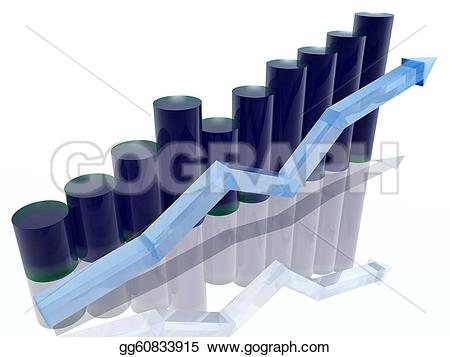 Graph clipart histogram  Drawing gg60833915 or of