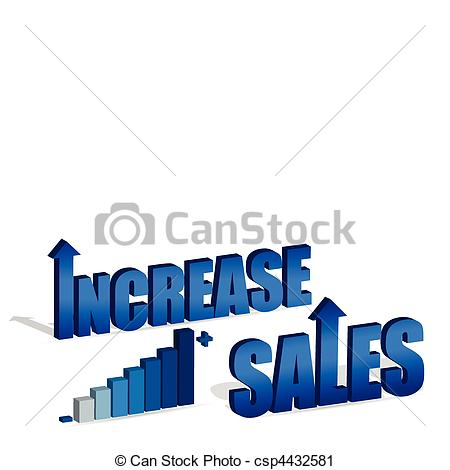 Graph clipart increase sale Vector of also text chart