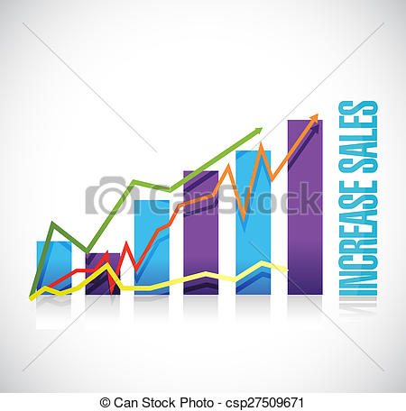 Graph clipart increase sale Sales sign graph increase Illustrations